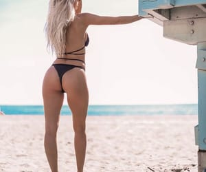 beach, outfit, and sweden image