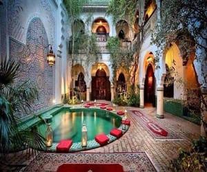 garden, luxury, and marocco image