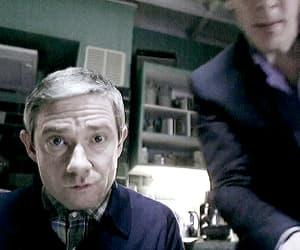 sherlock, Martin Freeman, and benedict cumberbatch image