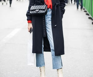 black, chanel, and coat image