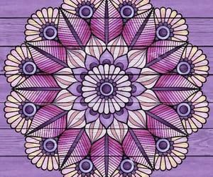 mandala, pink, and purple image