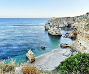 beach, cliffs, and portugal image