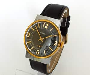 etsy, mens watches, and leather watch image
