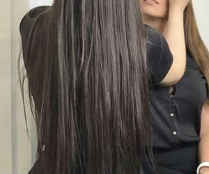 blackhair, girl, and hair image