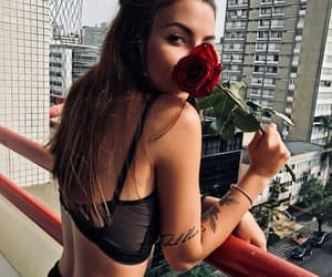 body, girl, and flower image