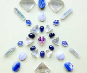 amethyst, fluorite, and blue chalcedony image
