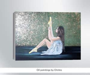 art, ballerina, and Oil Painting image