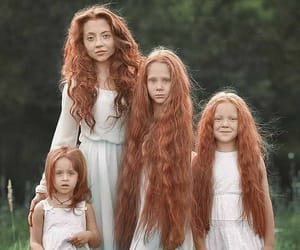 girl, family, and beauty image