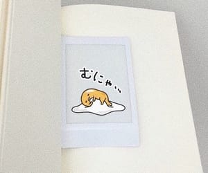 book, white, and gudetama image