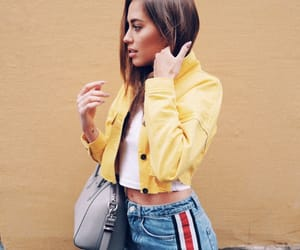 brunette, fashion, and jeans image