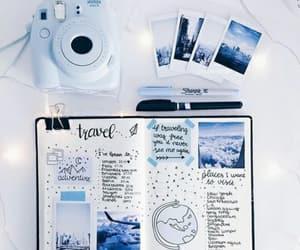 blue, bullet journal, and doodles image
