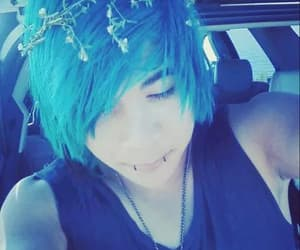 blue, hair, and boy image