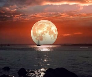 nature, earth, and moon image