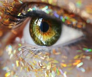 art, eye, and glitters image