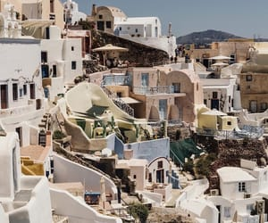 santorini and travel image