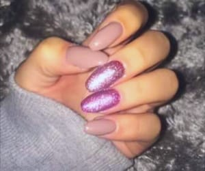 autumn, glitter, and nails image