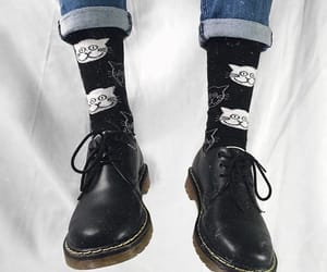 cats, doc martens, and fashion image