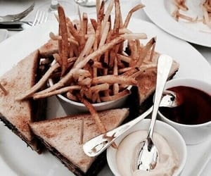 black, dinner, and food image