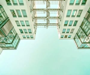 architecture, mint green, and photography image