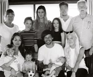 louis tomlinson, black and white, and family image