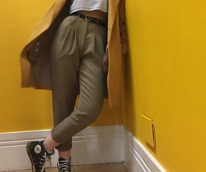 art, converse, and yellow image