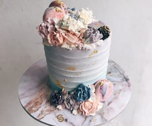 cake, desserts, and flower image