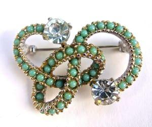 beads, brooch, and rhinestones image