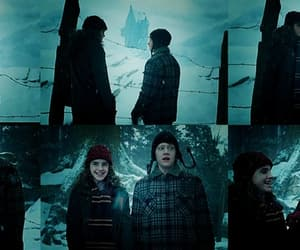 harry potter, haunted house, and hermione granger image