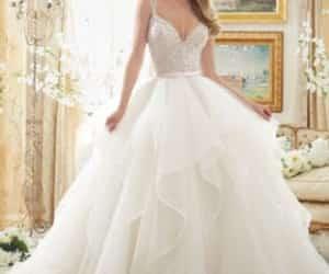 dress, wedding, and bridal image