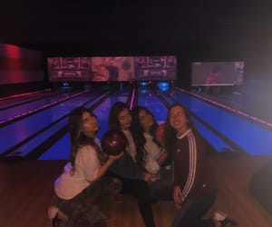 bowling, chill, and girls image