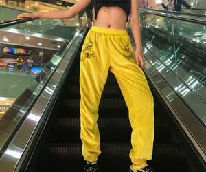 fashion, theme, and yellow image