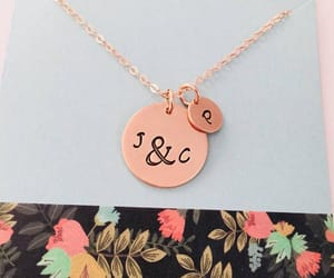 etsy, rose gold, and hand stamped jewelry image