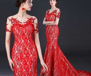 evening dress, girl, and chinese style image
