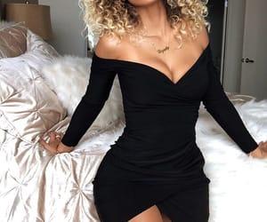 dress, fashion, and pose image