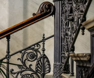 railing, staircase, and stairs image
