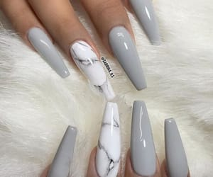 nails, marble, and grey image