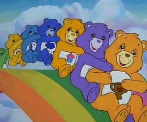 rainbow, bear, and care bears image