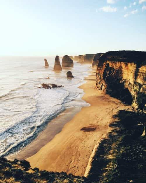beach, cliffs, and sand image
