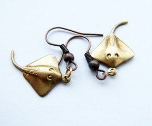 earrings, weird, and jewelry image
