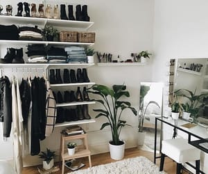 bedroom, shoes, and clothes image