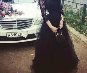black dress, dress, and classy image