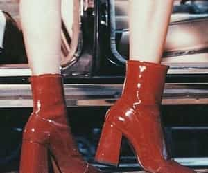80's, boots, and red image