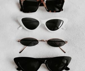 fashion, nails, and sunglasses image
