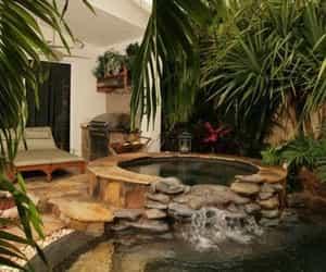 pool, backyard, and garden image