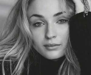 beauty, blackandwhite, and blonde image