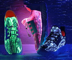 led shoes, fashion, and gif image