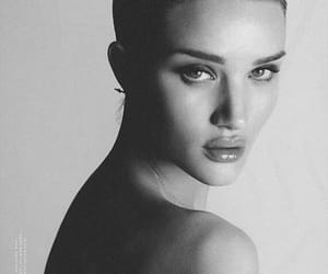 model, black and white, and rosie huntington whiteley image