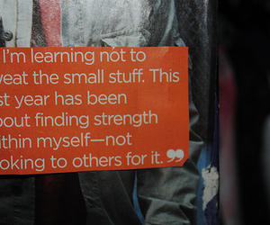 quote, text, and strength image