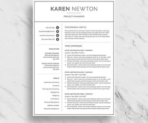 career, modern resume, and etsy image