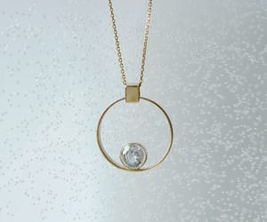 circle, jewelry, and necklace image